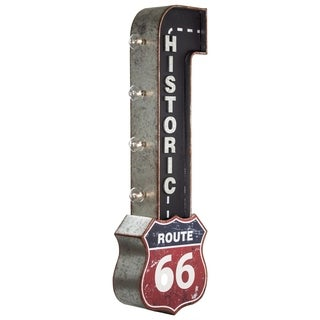 American Art Decor Vintage Historic Route 66 Double Sided LED Sign