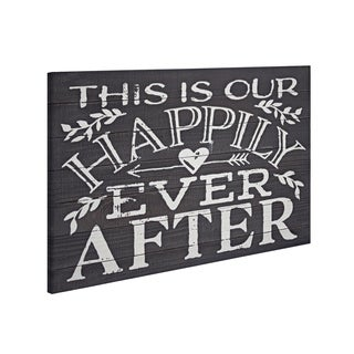 American Art Decor Happily Ever After Textual Art Wall Decor Sign