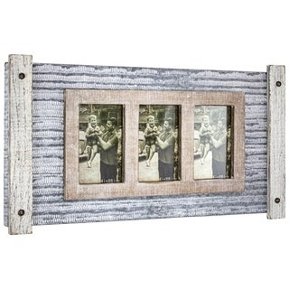 Link to American Art Decor Rustic Wood and Metal Hanging 3 Picture Photo Frame Similar Items in Decorative Accessories
