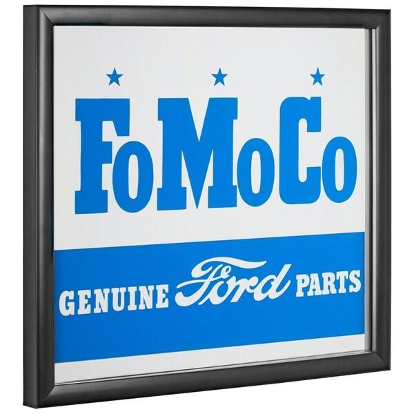 American Art Decor Licensed Ford Motor Company Printed Framed Mirror - Blue - A/N