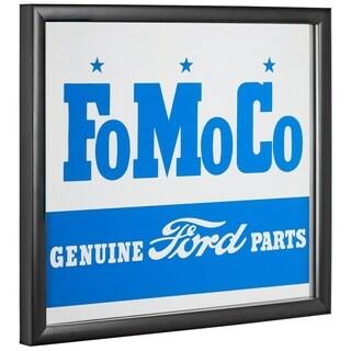 American Art Decor Licensed Ford Motor Company Printed Framed Mirror - Blue