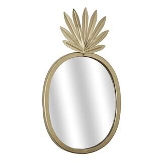 American Art Decor Metal Pineapple Accent Mirror /Gold - A/N
