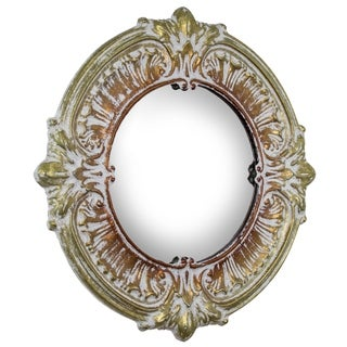 American Art Decor Bold / Bronze Decorative Metal Wall Vanity Accent Mirror - Multi/Gold