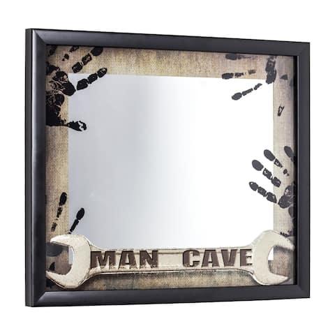 American Art Decor Man Cave Printed Framed Mirror - Brown - A/N