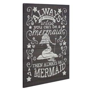 American Art Decor Always Be A Mermaid Textual Art Wall Decor Sign