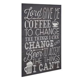 American Art Decor Coffee Beer Textual Art Plaque Wall Decor Sign