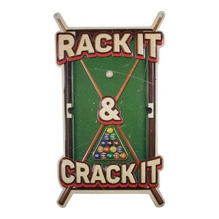 American Art Decor Rack it Crack it Embossed Metal Wall Decor Sign