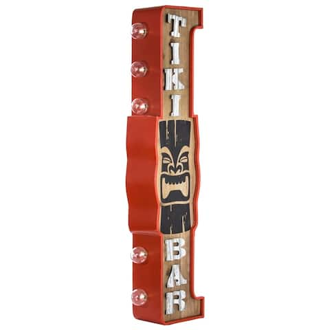 American Art Decor Vintage Tiki Bar Double Sided Marquee LED Sign