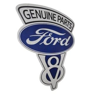 American Art Decor Vintage Genuine Ford Parts Embossed Metal Sign