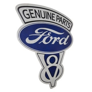 American Art Decor Vintage Genuine Ford Parts Embossed Metal Sign