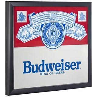 American Art Decor Licensed Budweiser King of Beers Framed Mirror - Multi
