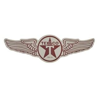 American Art Decor Vintage Texaco Wings Logo Embossed Metal Wall Sign
