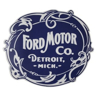 American Art Decor Vintage Ford Logo Embossed Metal Wall Decor Sign