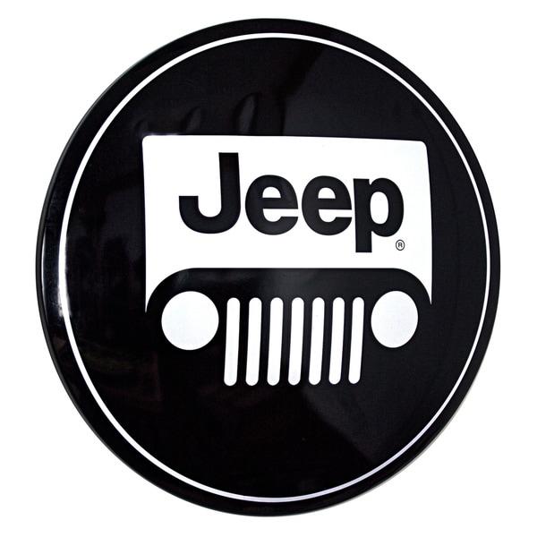 American Art Decor Licensed Jeep Logo Hanging Metal Sign Wall Decor