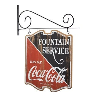 American Art Decor Coca Cola Double Sided Off the Wall Hanging Plaque