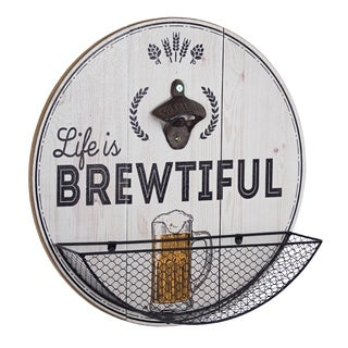 American Art Decor Life is Brewtiful Bottle Opener and Cap Catcher