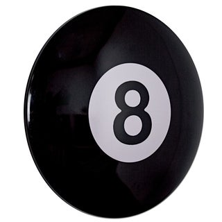 American Art Decor Eight (8) Ball Metal Sign for Pool Hall, Game Room