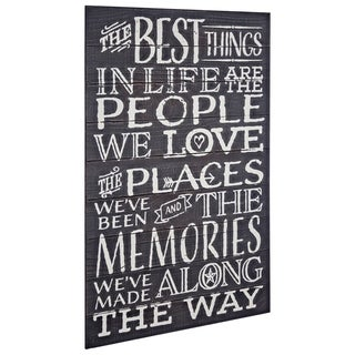 American Art Decor Best Things in Life Textual Art Plaque Wall Decor