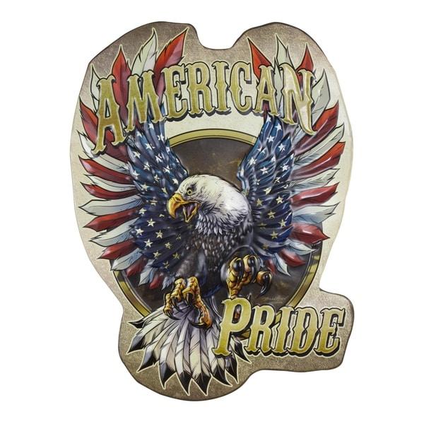American Art Decor American Pride Embossed Metal Wall Decor Sign