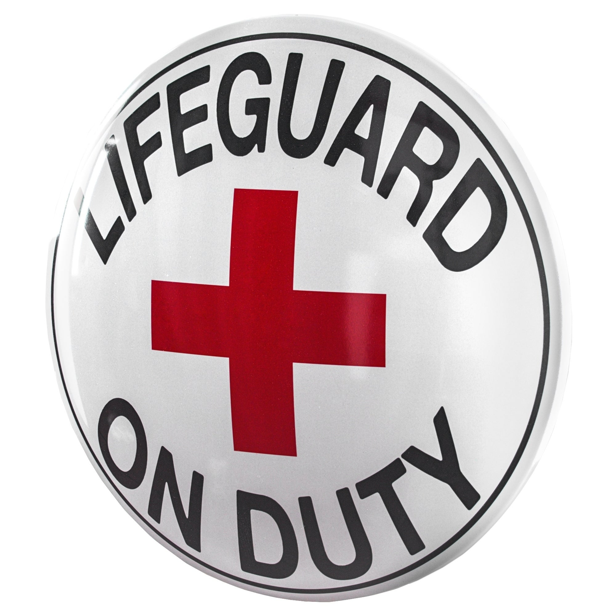 American Art Decor Lifeguard On Duty Metal Sign Wall Decor