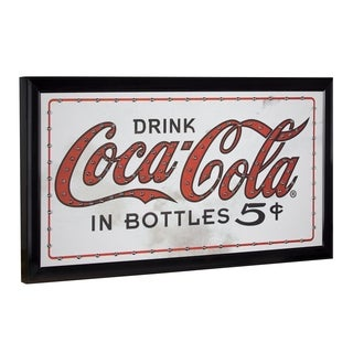 American Art Decor Coca Cola Framed Light Up LED Sign - N/A