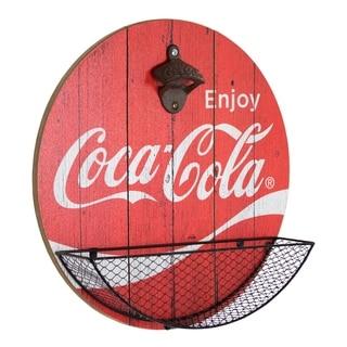American Art Decor Vintage Coca Cola Bottle Opener and Cap Catcher