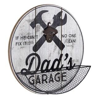 American Art Decor Dad's Garage Bottle Opener and Cap Catcher