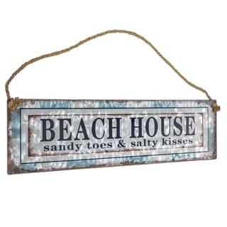American Art Decor Beach House Hanging Metal Sign