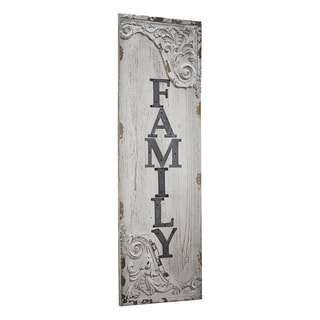 American Art Decor Family Wood and Metal Vintage Sign