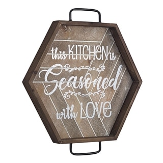 American Art Decor Kitchen is Seasoned with Love Wood and Metal Sign