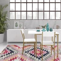 CosmoLiving by Cosmopolitan Mercer Soft Brass Dining Table & Chair Set