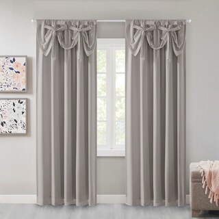 Intelligent Design Amie 100-percent Total Blackout Panel with Attached Bow Tie Valance