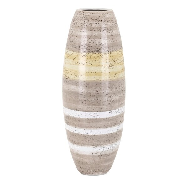 Large Size Ceramic Vase, Multicolor