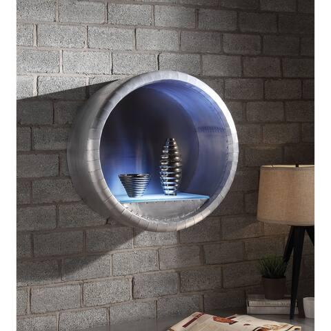 ACME Brancaster Wall Rack w/LED Light, Aluminum