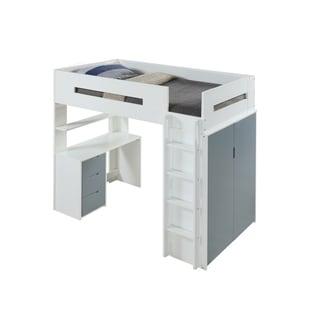 ACME Nerice Loft Bed, White & Gray