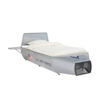 ACME Aeronautic Twin Bed, Silver