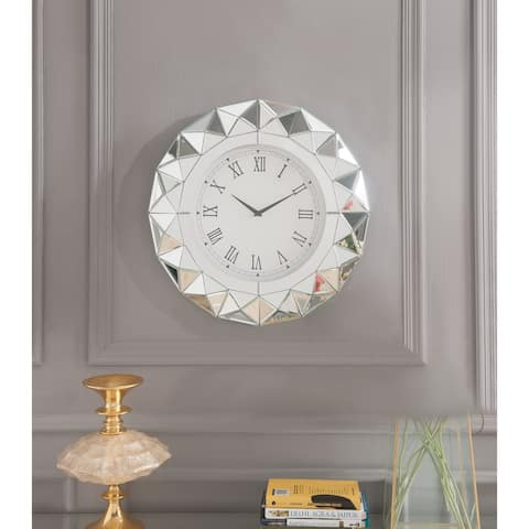 ACME Nyoka Wall Clock, Mirrored