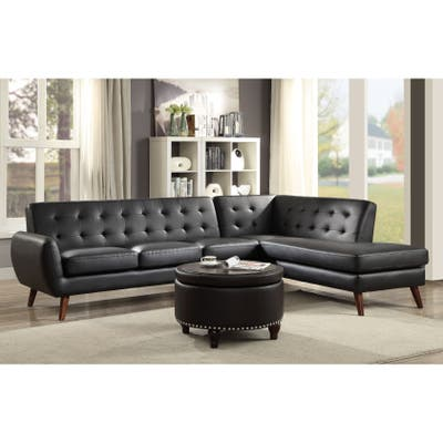 Buy Faux Leather Sectional Sofas Online at Overstock   Our ...