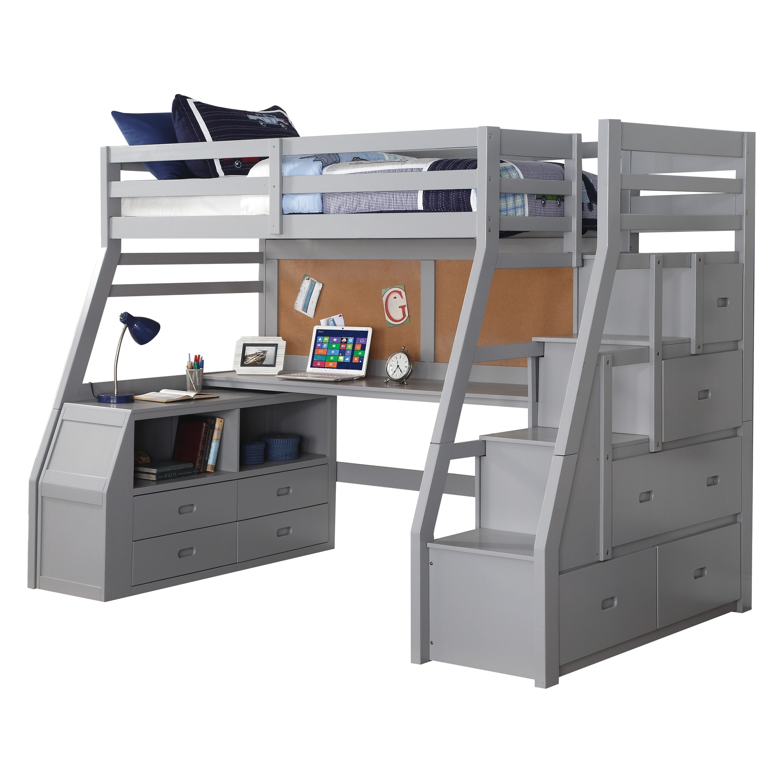 Image of: Shop Black Friday Deals On Acme Jason Ii Loft Bed Storage Ladder Gray Overstock 26055270