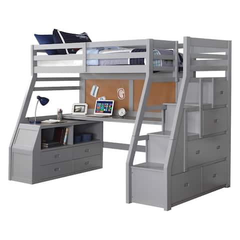 ACME Jason II Loft Bed & Storage Ladder, Gray