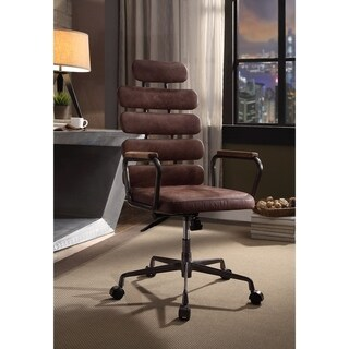 ACME Calan Executive Office Chair, Vintage Whiskey Top Grain Leather