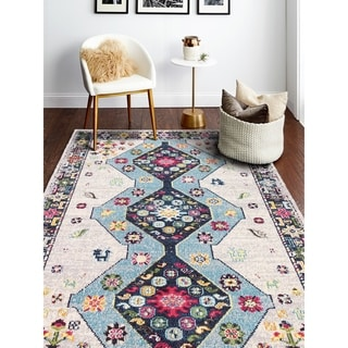 Porch & Den Godfrey Ivory Power Loomed Area Rug