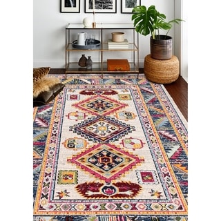 Porch & Den Lee Ivory Power Loomed Area Rug