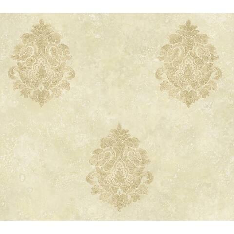 Baroque Damask Cream Wallpaper