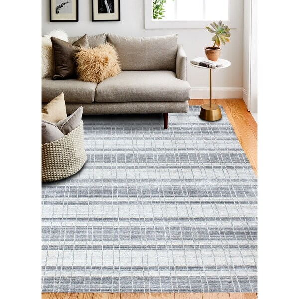 Hand Loomed Zada Wool And Viscose Rug
