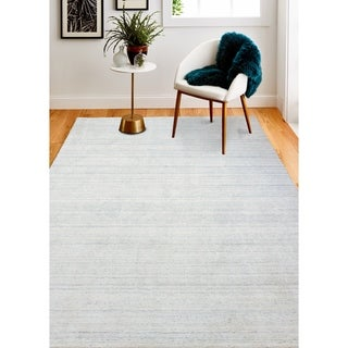 Hand Loomed Zaha  Wool And Viscose Rug