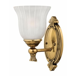 Hinkley Francoise 1-Light Sconce in Burnished Brass (As Is Item)