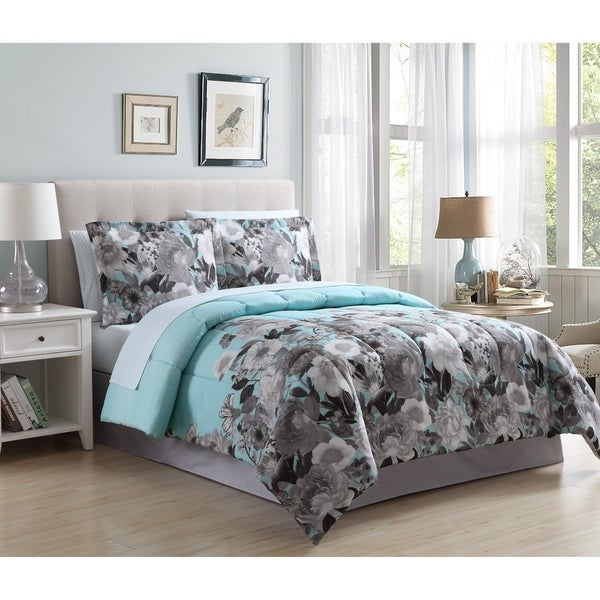 Hamilton Hall Emily Floral Reversible Bed in a Bag