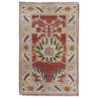 "Handmade Oushak Oriental Area Rug - 2'8"" x 4'2"""