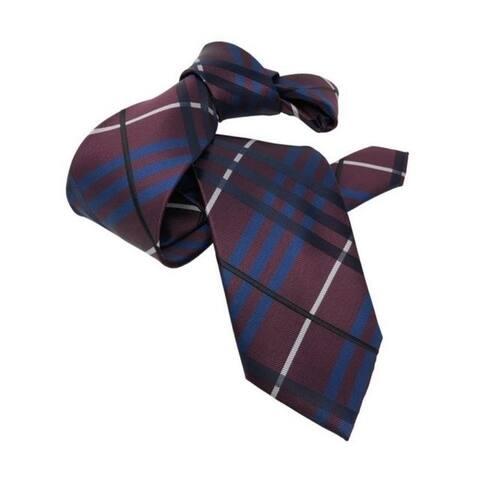 DMITRY Maroon Patterned Italian Silk Tie